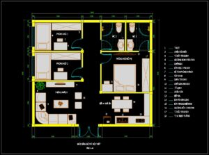 37.Apartment Plan Design AutoCAD File Free download