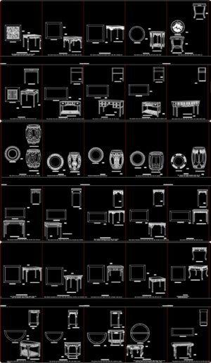 46.Free Chinese Furniture Blocks