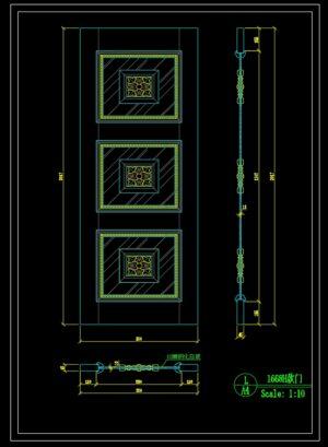 146.Autocad Wooden Door free download