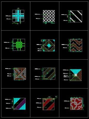 68.Paving Design CAD Blocks